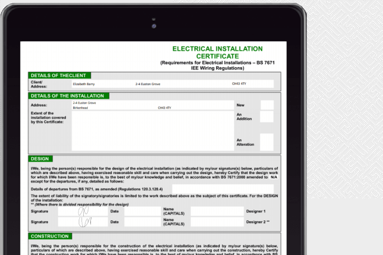 Electrical Contractor Software - Complete your electrical certificates online