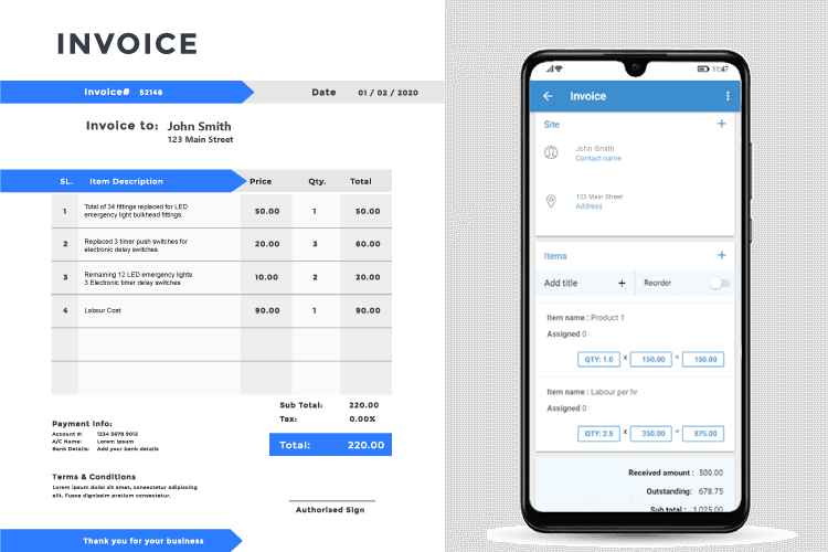 Automated job costing – invoice immediately - Invoicing software for electricians