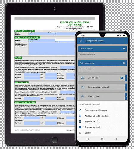 Connect with your Mobile Operatives Seamlessly. Top Rated Job Management Software Solution Available on Mobile Devices