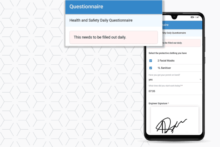 Management software - Use questionnaires to follow health and safety protocols